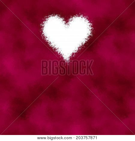 Burgundy red abstract spray white heart image background