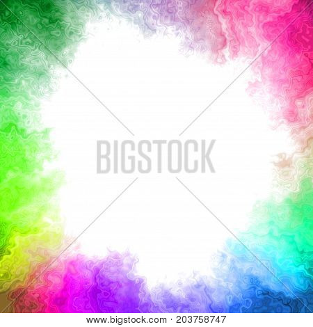 Multicolored rainbow colorful blorchy watercolor like frame background