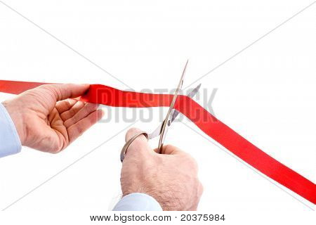 cutting the red ribbon - new business