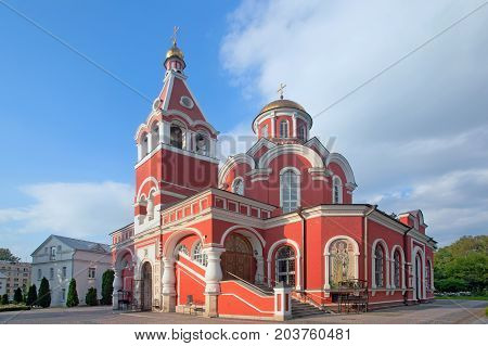 Church of the Annunciation of the Blessed Virgin in Petrovsky Park in Moscow Russia
