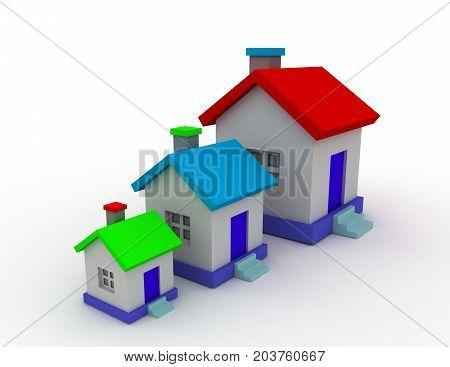3d estate concept . 3d rendered illustration