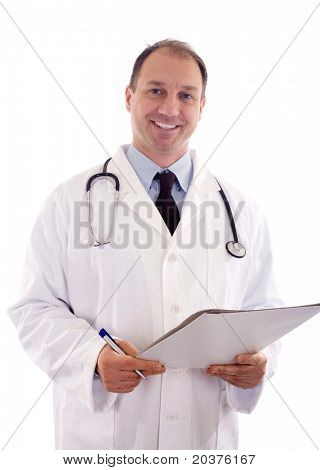 doctor in the uniform with a stethoscope
