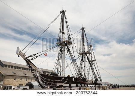 Uss Constitution Old Ironsides On Freedom Trail In Boston