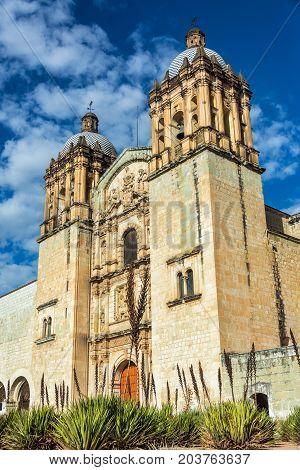 Exterior view of Santo Domingo church in Oaxaca Mexico