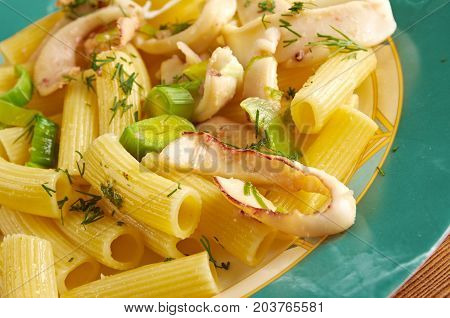 Seafood With Rigatoni Pasta
