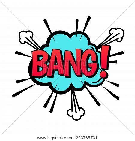 BANG speech bubble. Vector cartoon comic explosion with text