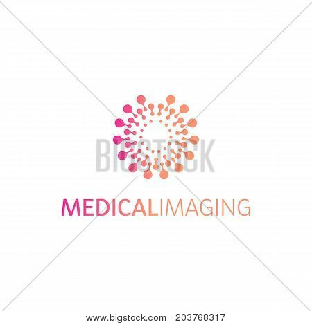 Brain hemispheres logo, round shapes, abstract vector unusual logotype template. Medical or other science simple isolated sign