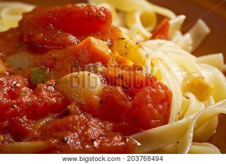 Sicilian Homemade   Pasta  Fettuccine