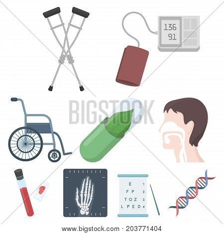 Medicine and hospital set icons in cartoon style. Big collection of medicine and hospital vector symbol stock
