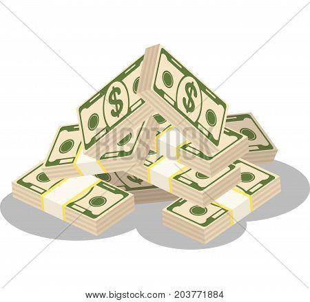 Bundles Of Paper Money Color