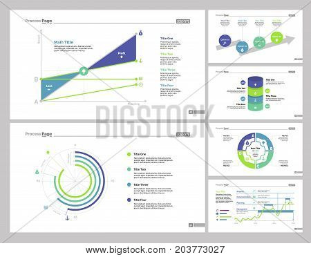 Infographic design set can be used for workflow layout, diagram, annual report, presentation, web design. Business and statistics concept with process, doughnut, line, area and percentage charts.