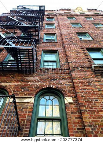 Charming Fire Escape in New York City