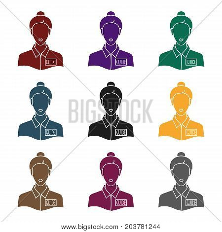 Museum guide icon in black style isolated on white background. Museum symbol vector illustration.