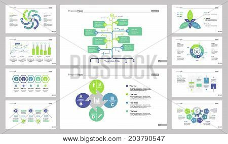 Charts and graphs templates set can be used for workflow layout, annual report, presentation. Marketing concept with option, scatter plot, bar, timing and dates, flow, petal, donut, process charts