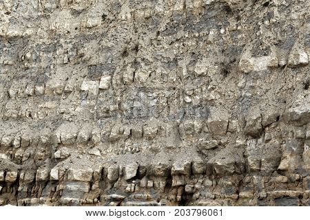 Marl Limestone intercalations of Jurassic age in the Paris Basin in Northern France.