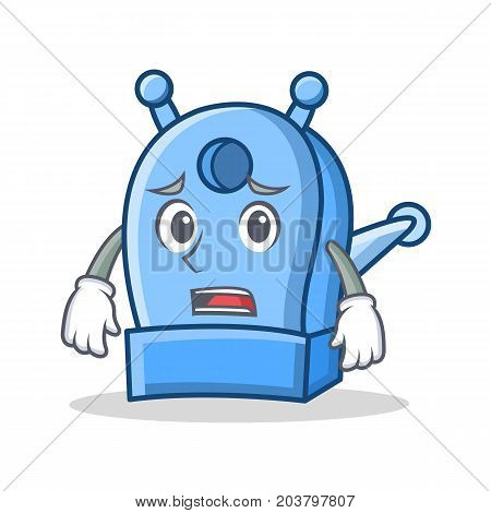 Afraid pencil sharpener character cartoon vector illustration