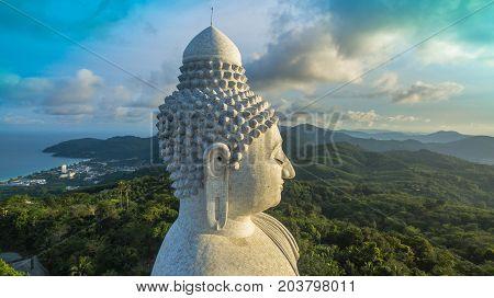 Phuket Big Buddha Head On High Mountain