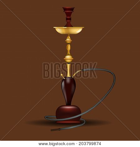 Realistic big hookah or nargile mock up. Vector illustration