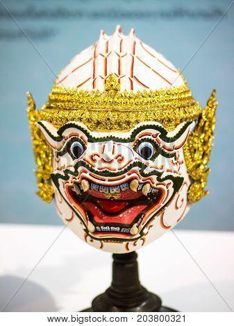Monkey mask, Hanuman actor's mask role in Ramayana
