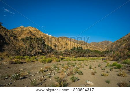 Dry Riverbed In Southern California