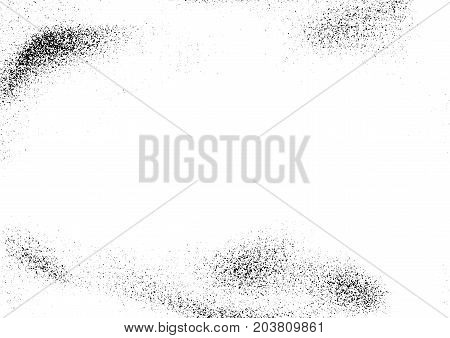 Halftone distressed easy applied graphic vintage effect. Rough scratched retro pattern background. Vector illustration