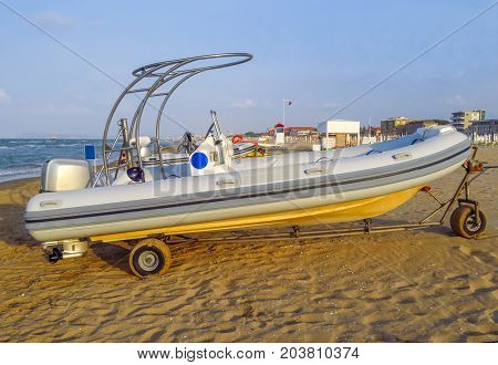 Motor Lifeboat On The Beach