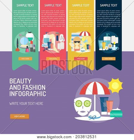 Infographic Beauty and Fashion | Use for beauty, fashion, women, girls, cosmetic and much more. The set can be used for several purposes like: websites, print templates, presentation templates, promotional materials, info