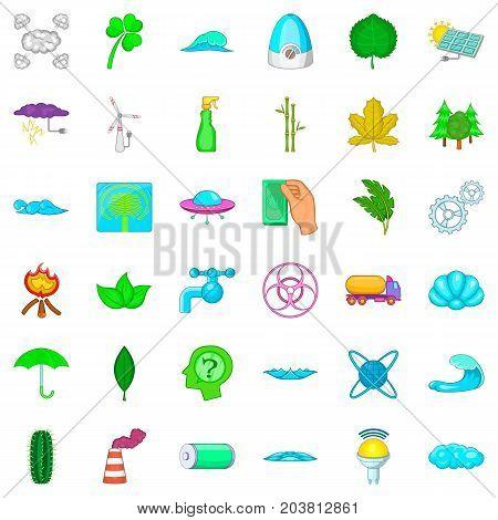 Splash icons set. Cartoon style of 36 splash vector icons for web isolated on white background