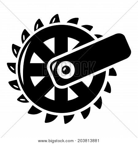 Mining cutting wheel icon . Simple illustration of mining cutting wheel vector icon for web design isolated on white background