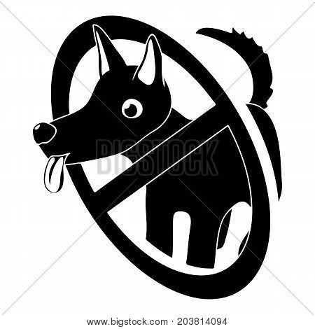 No dogs icon. Simple illustration of no dogs vector icon for web design isolated on white background