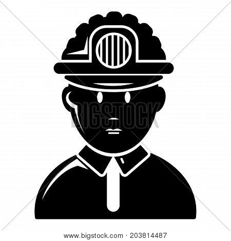 Miner icon . Simple illustration of miner vector icon for web design isolated on white background