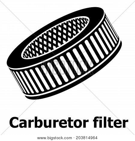 Car air filters icon. Simple illustration of car air filters vector icon for web