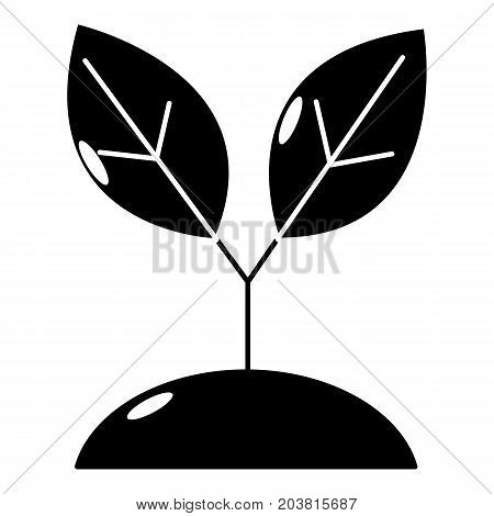 Plant sprout icon. Simple illustration of plant sprout vector icon for web