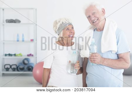 Satisfied Couple Of Elderly People