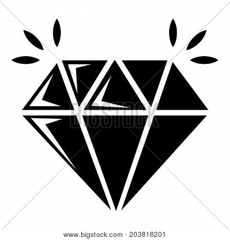 Mine diamond icon . Simple illustration of mine diamond vector icon for web design isolated on white background