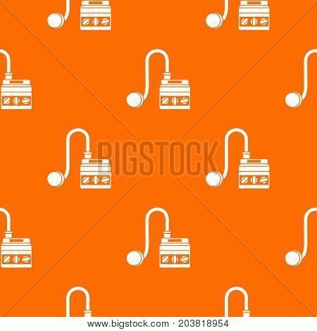 Detonator pattern repeat seamless in orange color for any design. Vector geometric illustration