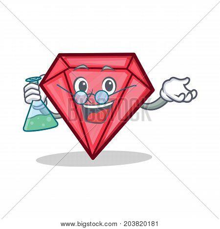 Professor diamond character cartoon style vector illustration