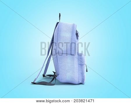 Open Backpack Bag School 3D Render On Blue