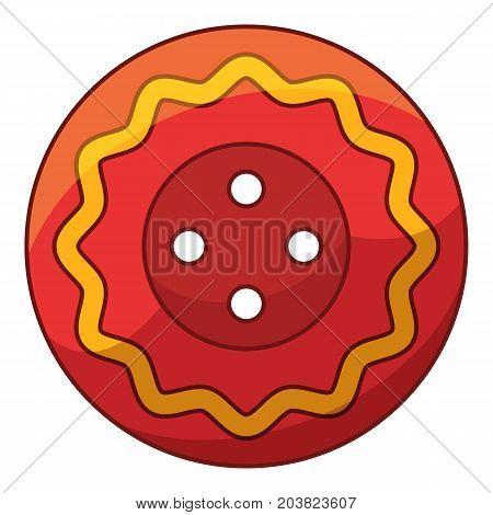 Mexico cloth button icon. Cartoon illustration of mexico cloth button vector icon for web