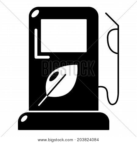 Eco gas station icon. Simple illustration of gas station vector icon for web