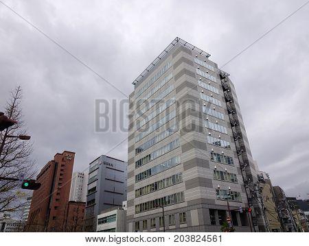 Business District In Sendai, Japan