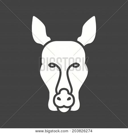 Kangaroo, australia, pouch icon vector image. Can also be used for Animal Faces. Suitable for mobile apps, web apps and print media.