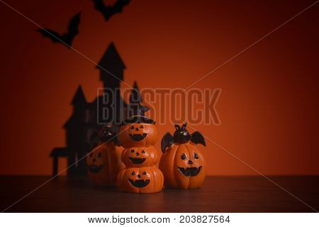 Halloween pumpkins jack-o-lantern on orange background. Halloween pumpkin background. Halloween. jack-o-lantern. Halloween jack-o-lantern. Happy Halloween.