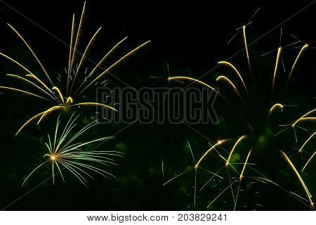 Abstract background with beautiful natural green fireworks, holiday backdrop, aesthetic and entertainment purposes, art. Suitable for a backdrop for all occasions, modern style