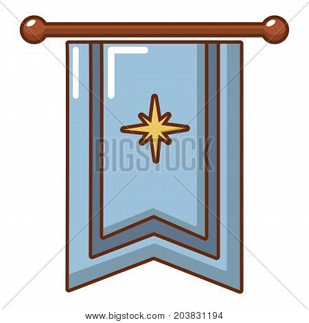 Medieval flag icon. Cartoon illustration of medieval flag vector icon for web