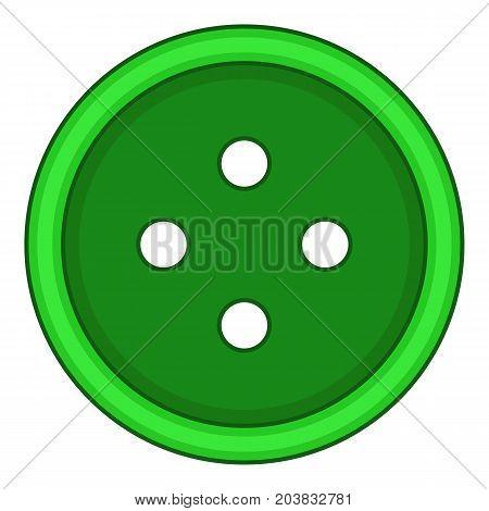 Craft cloth button icon. Cartoon illustration of craft cloth button vector icon for web