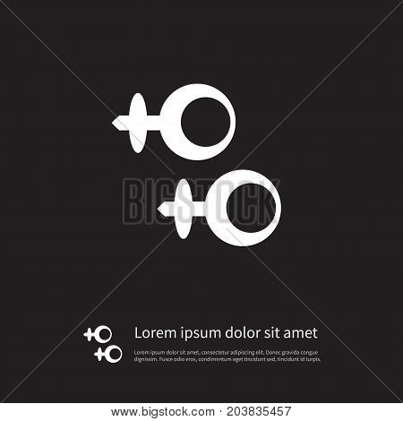 Shackle Vector Element Can Be Used For Shackle, Earring, Eardrop Design Concept.  Isolated Eardrop Icon.