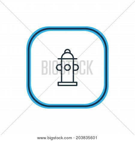 Beautiful Necessity Element Also Can Be Used As Water  Element.  Vector Illustration Of Hydrant Outline.