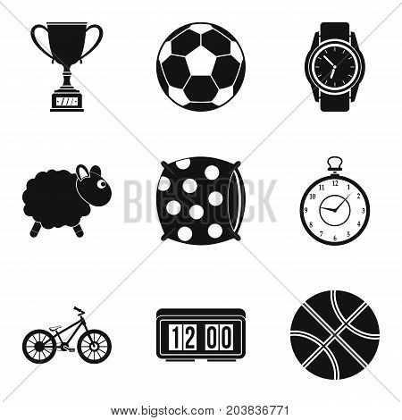 Popular sport icon set. Simple set of 9 popular sport vector icons for web design isolated on white background