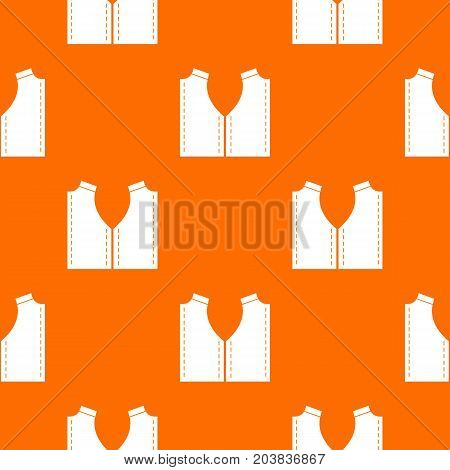 Pattern for sewing pattern repeat seamless in orange color for any design. Vector geometric illustration